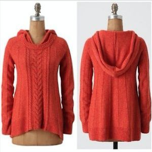 Anthropologie Moth 'Fireside' Hooded Sweater XL